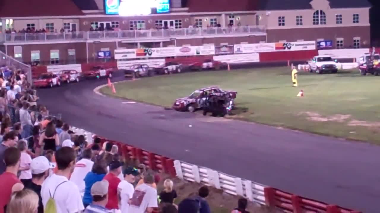 crash, perfectfit, racing, Bowman Gray - 3-Car Chain Race 5/21/11 GIFs