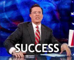 Watch this success GIF on Gfycat. Discover more stephen colbert GIFs on Gfycat