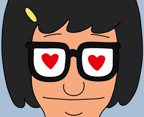 bobs burgers, crush, heart eyes, hearts, love, love at first sight, romance, smitten, tina belcher, Tina Heart Eyes GIFs