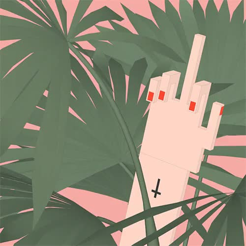 Watch this middle finger GIF on Gfycat. Discover more 3d artist, art, artists on tumblr, cinema4d, gif, illustration, loop, middle finger, palm, palm leaves, pixel art, red nails, sashakatz, tropical GIFs on Gfycat