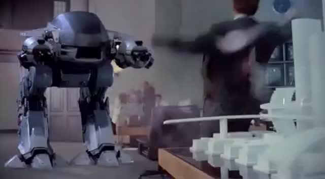 Watch and share Ed 209 Kill, Robocop GIFs on Gfycat