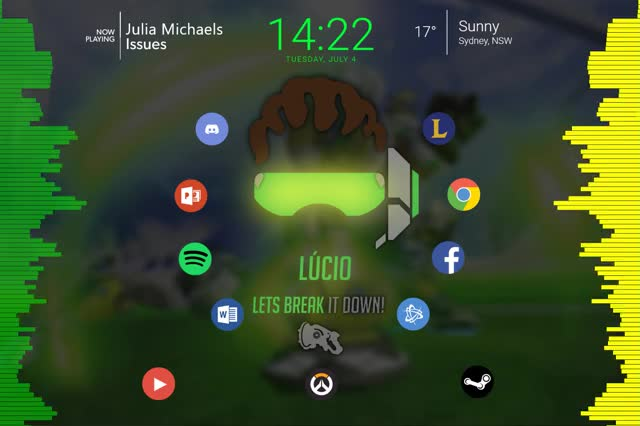 Watch Lucio Rainmeter Wallpaper GIF on Gfycat. Discover more overwatch, wallpapers GIFs on Gfycat