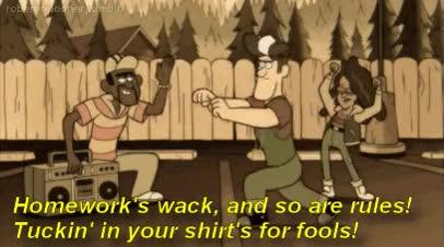 Watch and share Gravity Falls, Thug, Thug Life GIFs on Gfycat