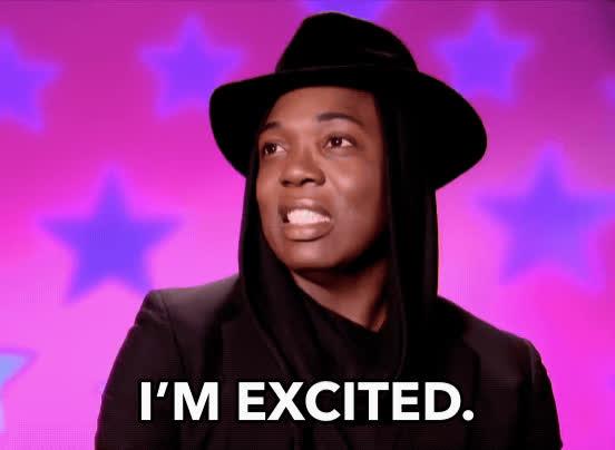 BeBe Zahara Benet, all stars 3, drag race, excited, rupaul, BeBe Zahara Benet Excited GIFs