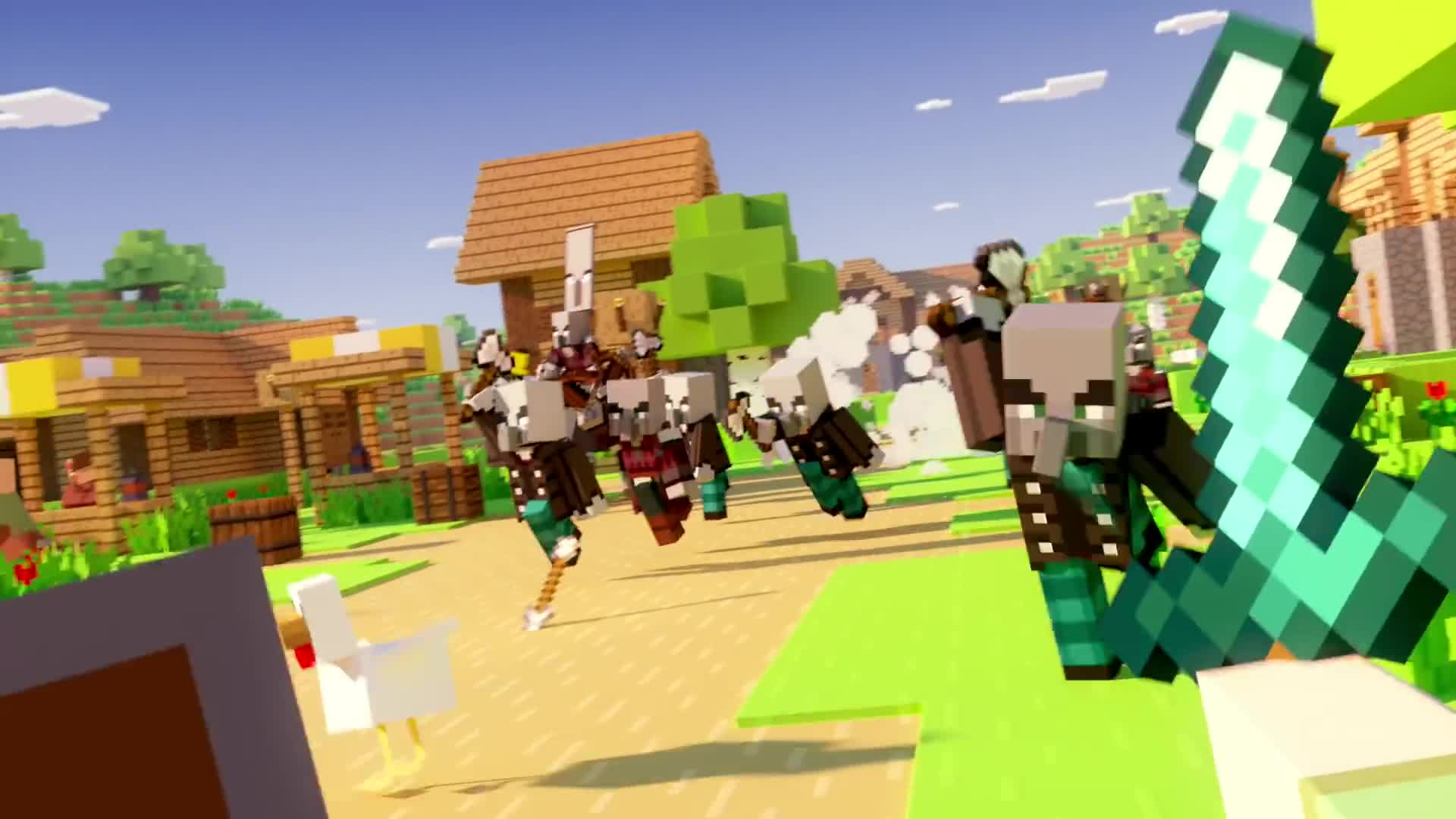Minecraft, Xbox, Xbox One, Xbox360, illager, illagers, village & pillage, village and pillage, villages, xbox 360, Minecraft Village & Pillage Update Launch Trailer GIFs