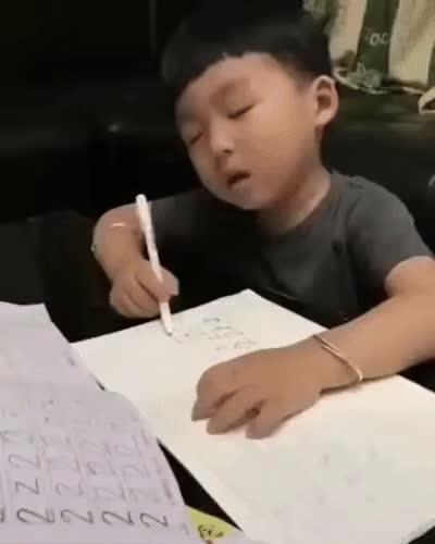 homework-sleepy-picture GIFs