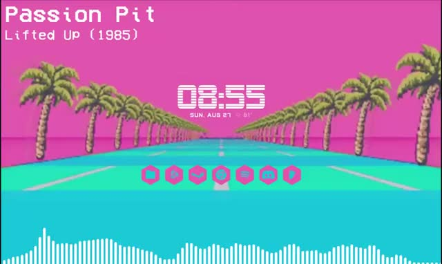 Watch and share Rainmeter GIFs and Synthwave GIFs by tetratonix on Gfycat