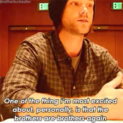 Watch What are you excited for the viewers to see ? (s) GIF on Gfycat. Discover more comic con, comic con 2015, dean winchester, interview, jared padalecki, jensen ackles, my edit, sam winchester, sdcc, sdcc 2015, spn, spn gif, supernatural GIFs on Gfycat