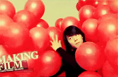 Watch and share Micky Yuchun GIFs and Red Balloon GIFs on Gfycat