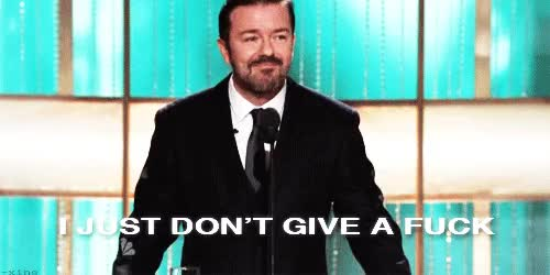 Watch and share Ricky Gervais GIFs and Idgaf GIFs on Gfycat