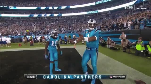 Watch and share Cam Newton 16 Yard Rushing Touchdown Eagles Vs Panthers.gif GIFs on Gfycat