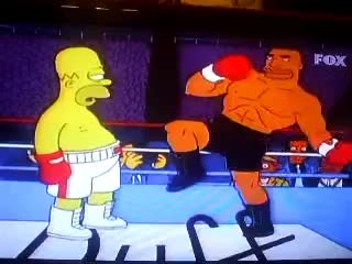 Watch Homer Simspon vs Drederick Tatum Boxeo GIF on Gfycat. Discover more related GIFs on Gfycat
