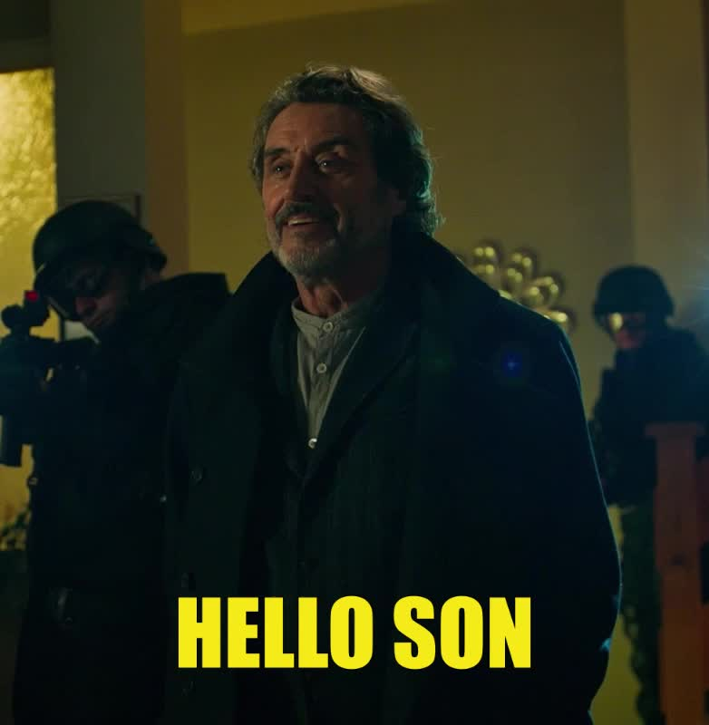 dark horse, dark horse comics, hellboy, hellboy 2019, hellboy movie, hello, hey, hi, ian mcshane, superhero, superheroes, whats up, Hellboy Hello Ian McShane GIFs