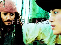 Watch One word love: Curiosity. GIF on Gfycat. Discover more AND THEY THOUGHT THEY WERE IN CONTROL, BUT BADUM BADAM SPOILER ALERT: THEY WEREN'T!!!, Johnny Depp, but anyway i hope you like it anon!!! :))), elizabeth swann, jack sparrow, mine, oh my god i'm not even sure if i like this???, pirates of the caribbean, potcedit, sparrabeth, that quote truly inspired me GIFs on Gfycat