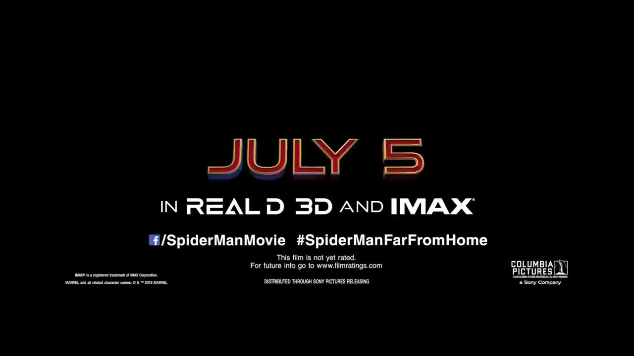 Spider Man Far From Home Official Teaser Trailer Gif