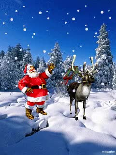 Watch and share Animated Santa Claus And The Milu Deer Smartphone Wallpapers GIFs on Gfycat