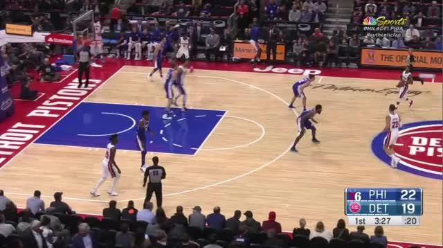 Watch and share Philadelphia 76ers GIFs and Detroit Pistons GIFs by bladner on Gfycat