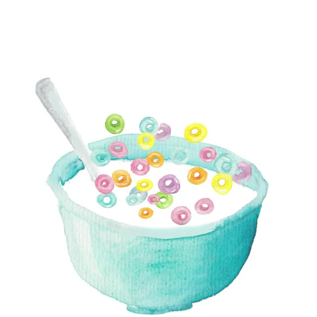 Watch and share Bowl Of Cereal GIFs and Frooty Loops GIFs by Color Snack on Gfycat