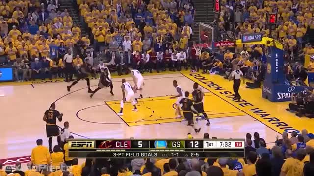 Watch and share Cleveland Cavaliers Vs Golden State Warriors - Game 5 - 1st Half Highlights | 2016 NBA Finals GIFs on Gfycat