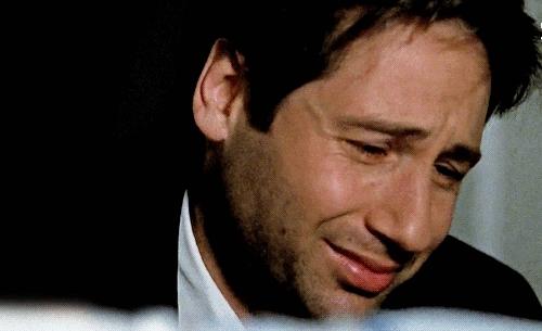 cry, david duchovny, sad, sad face,  GIFs