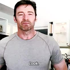 Watch this trending GIF on Gfycat. Discover more Hugh Jackman, crying, gifs, instagram, lol, too funny GIFs on Gfycat