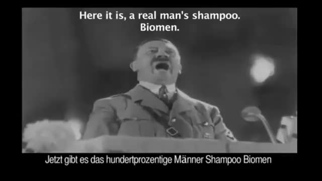 Watch Adolf HITLER Shampoo Commercial for Biomen GIF on Gfycat. Discover more Adolf, biomen, commercial, funny, haha, hitler, lol, shampoo GIFs on Gfycat