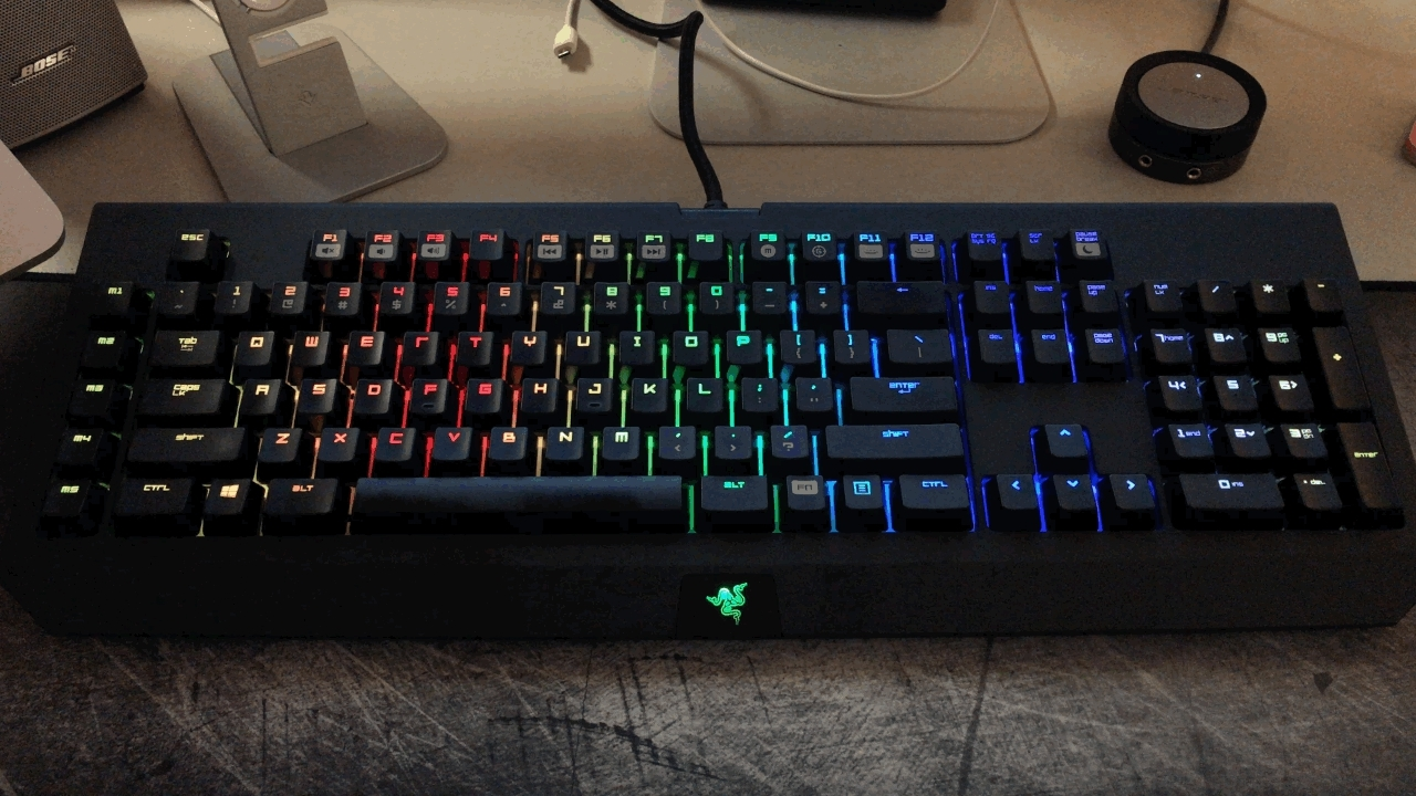 blackwidow, mechanicalkeyboards, razer, razer blackwidow chroma keyboard GIFs