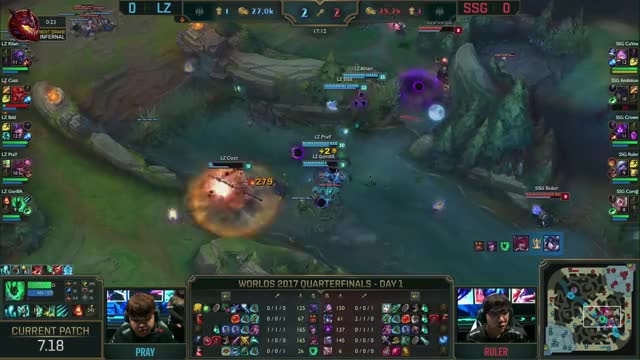 Watch and share LZ Vs SSG Worlds Quarterfinals Match Highlights 2017.mp4 GIFs on Gfycat