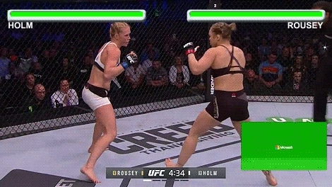 gifs, mmagifs, Rousey Vs Holm In Street Fighter Fight (reddit) GIFs