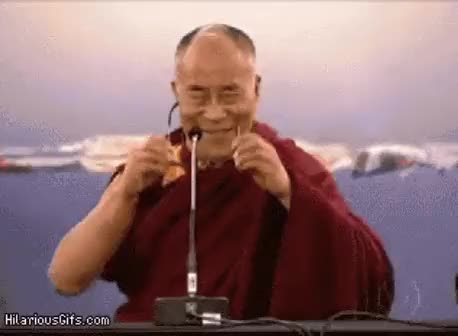 Watch and share [request] The Dalai Lama Shooting Lasers From His Eyes (reddit) GIFs on Gfycat
