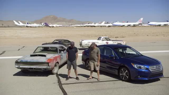 2015 Subaru Legacy Challenges the Roadkill Project Cars