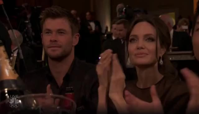 Watch this golden globes GIF by GIF Reactions (@visualecho) on Gfycat. Discover more Angelina Jolie, Chris Hemsworth, Golden Globes, GoldenGlobes, applause, clap GIFs on Gfycat