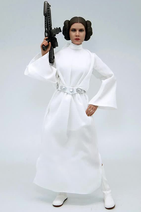 """Watch and share Hot Toys """"Star Wars: A New Hope"""" 1/6th Scale Princess Leia 28cm Collectible Figure Review II   Scale In Alluminio GIFs on Gfycat"""