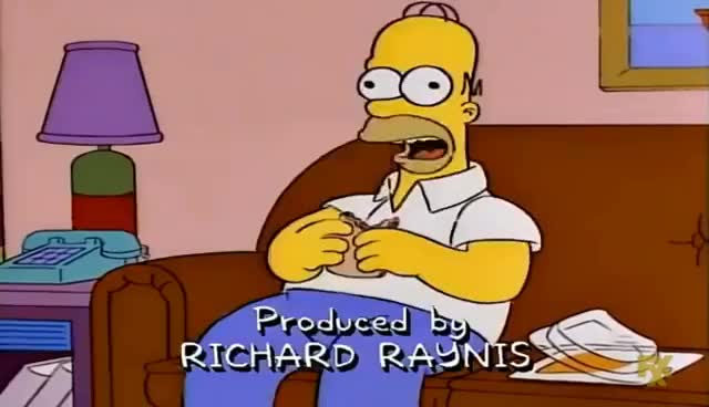Watch and share Simpsons - Homer's Food Poisoning GIFs on Gfycat