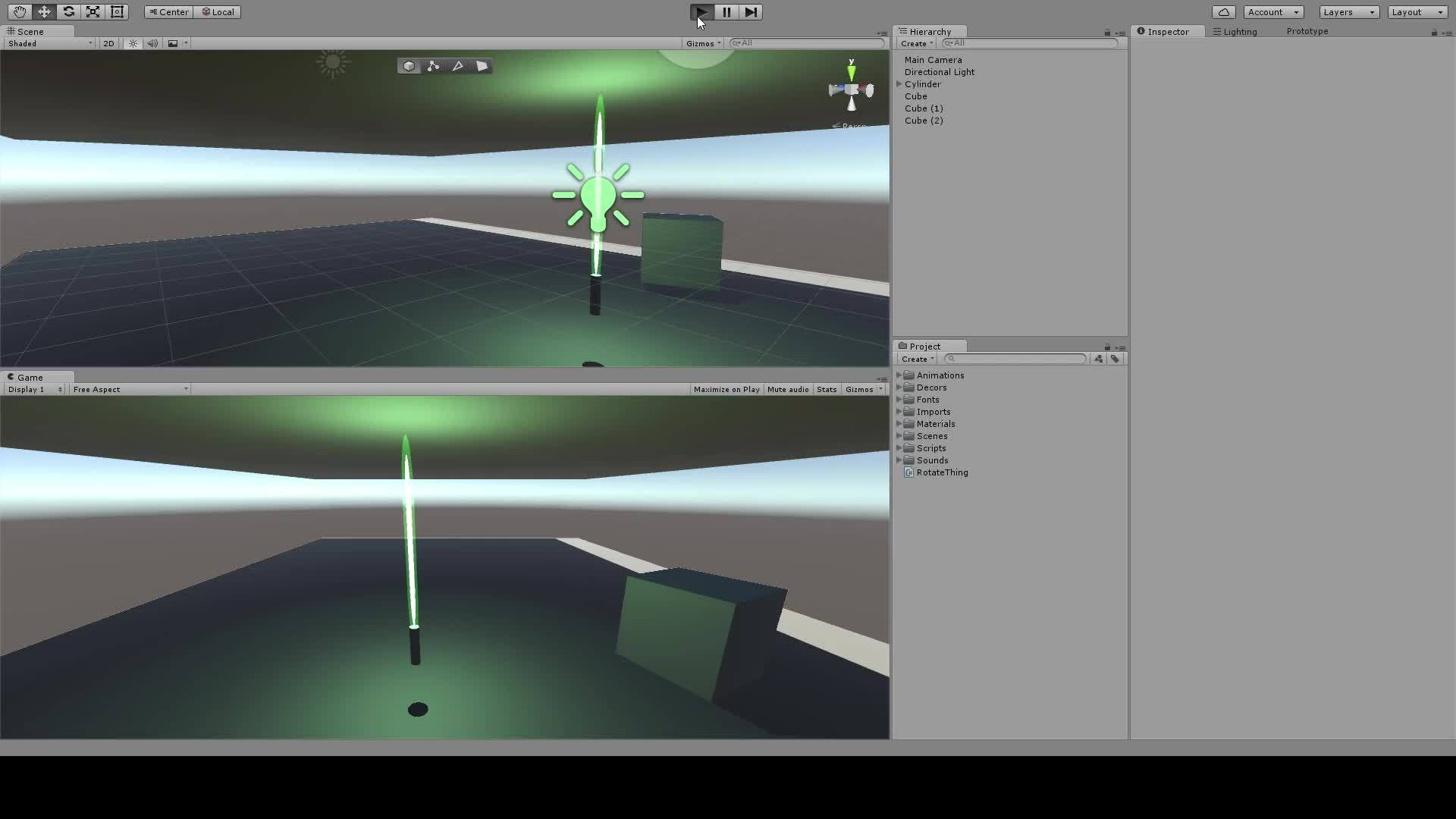 lighsaber, prototype, unity3d, Lightsaber in Unity3D GIFs