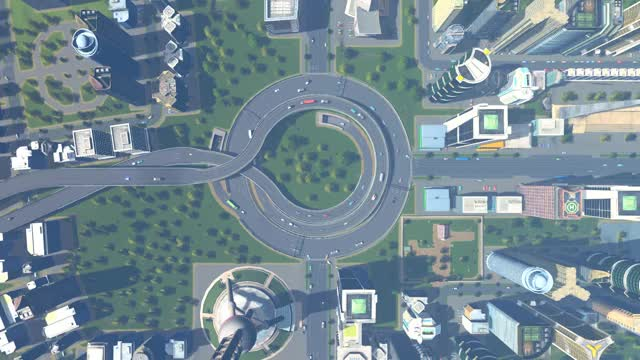 Watch Cities Skylines Roundabout GIF by @techflybrownie on Gfycat. Discover more Cities Skylines, Intersection, Oddly Satisfying, Roundabout GIFs on Gfycat