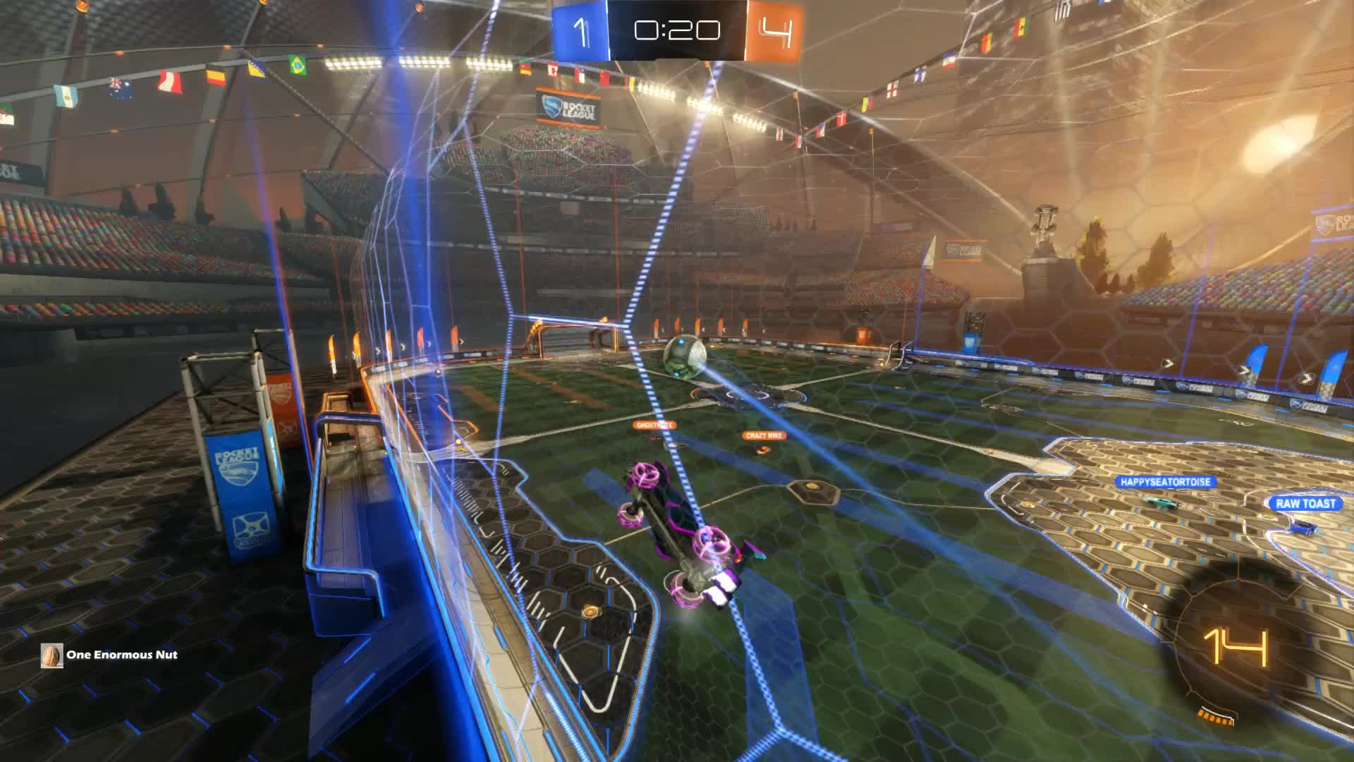 Gif Your Game, GifYourGame, Goal, One Enormous Nut | TTV, Rocket League, RocketLeague, Goal 6: One Enormous Nut | TTV GIFs