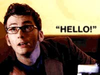 Watch and share Hi, Hello, David Tennant, Doctor Who, Dr Who GIFs on Gfycat