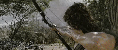 rambo, sylvester stallone, Rambo First Blood Part Ii Explosion GIFs