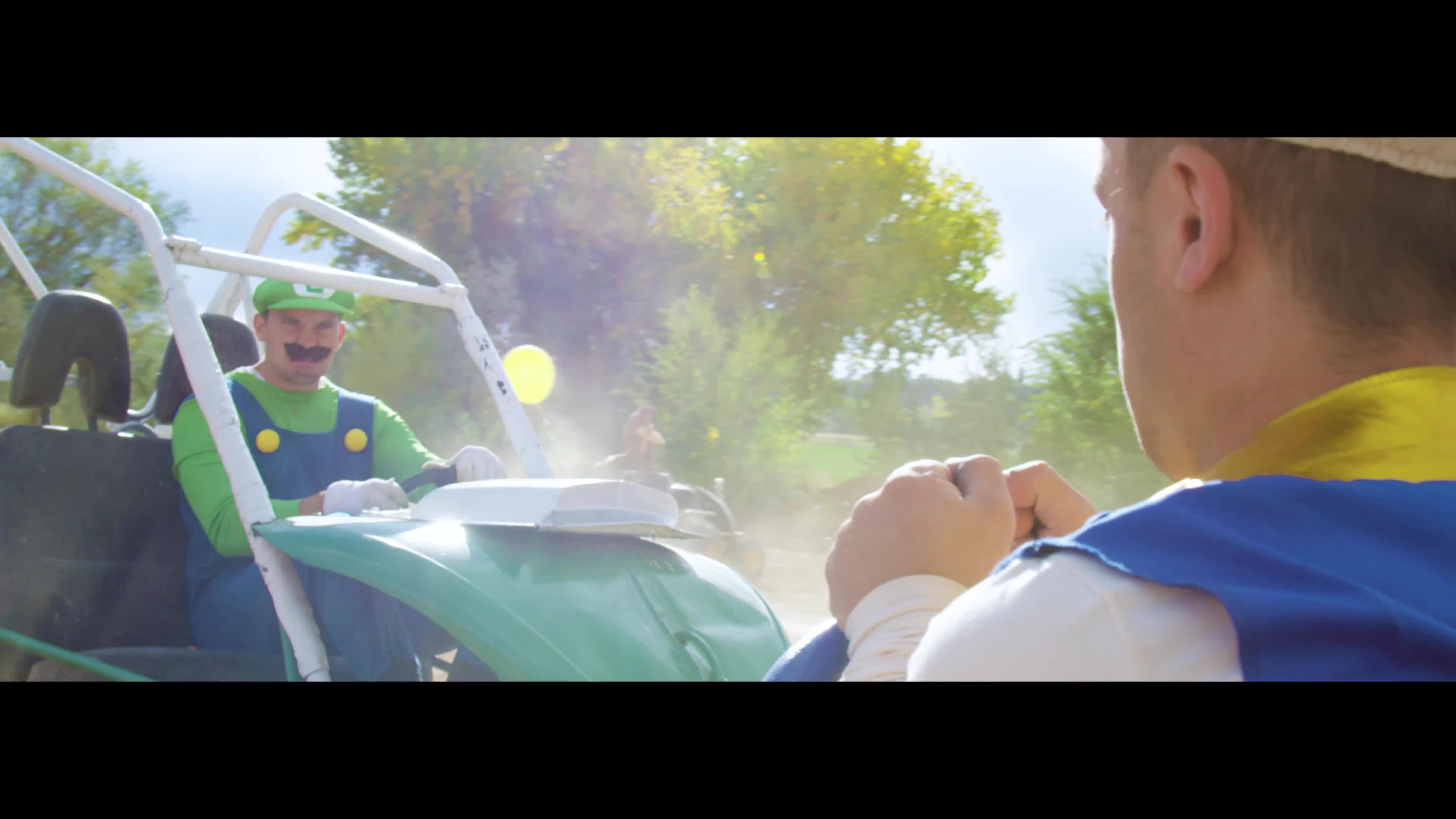 mario, mario kart, mariokart, Mario Kart in Real Life - Luigi Death Stare! GIFs