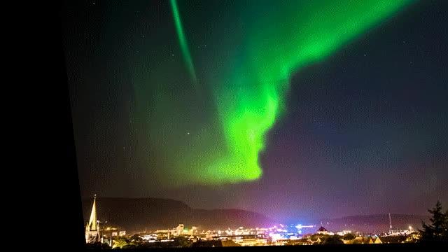 Watch Trongheim's 26 September Northern Lights GIF on Gfycat. Discover more Lights, Trondheim GIFs on Gfycat