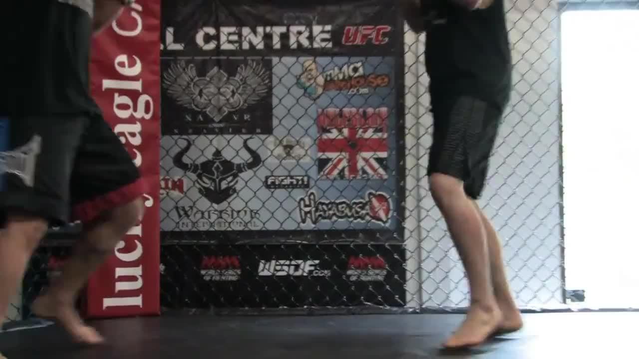 Kickboxing, calf-kick, fighter, Calf kick GIFs