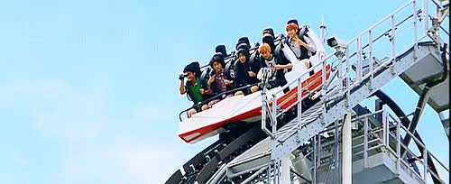 Watch B1A4 on roller coaster. GIF on Gfycat. Discover more B1A4, Baro, CNU, Gongchan, Jinyoung, Sandeul, b1a4 gifs, hotline season 2, kpop, my gifs, posproutgif, their faces tho xD especially cnu ahaha GIFs on Gfycat