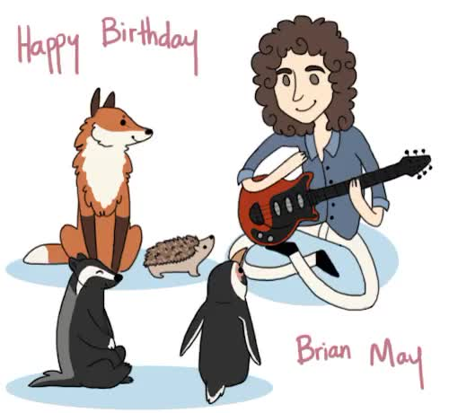 Watch and share Brian May GIFs and Birthday GIFs on Gfycat
