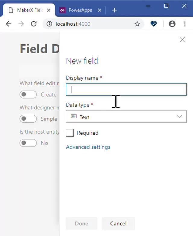 Watch and share MakerX Field Designer - Google Chrome 2019-03-04 13-19-44 Trim GIFs on Gfycat