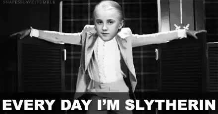 Watch and share Draco Malfoy GIFs and Serpentard GIFs on Gfycat
