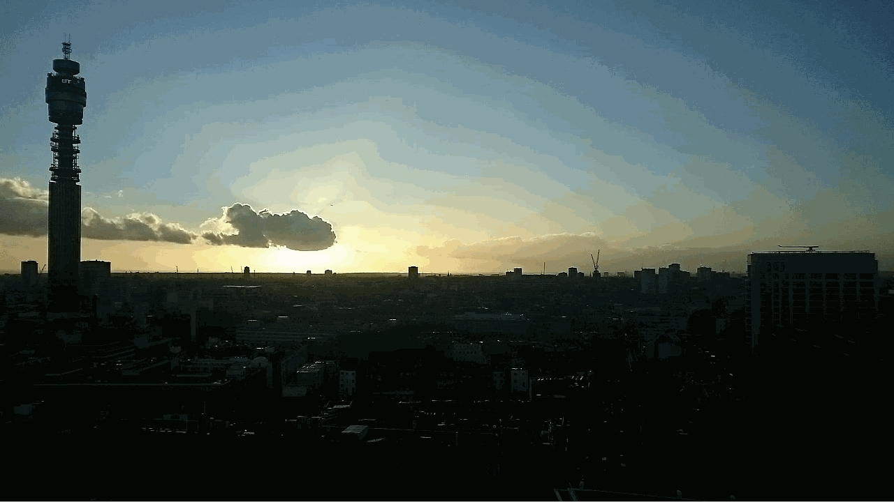 60fpsgifs, London BT Tower Timelapse GIFs