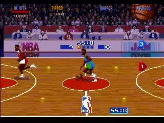 gaminggifs, NBA Jam-(Genesis)- Bulls vs. Mavericks Part 1 (reddit) GIFs