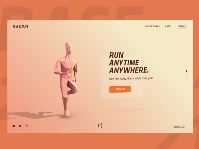 Watch and share Virtual Run | Landing Page GIFs by pbotelho on Gfycat