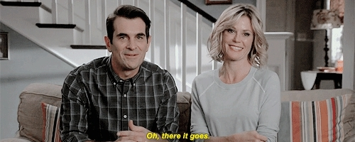 1k, 6x12, claire dunphy, he is killing me, julie bowen, modern family, phil dunphy, ty burrell, modern family  GIFs